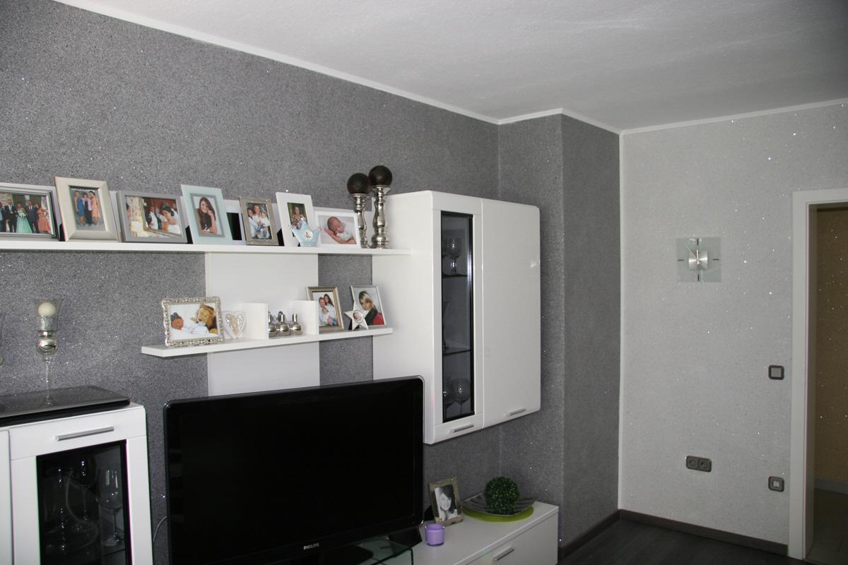 Wohnzimmerwande 2 Farbig Auf 3 Wanden Helles Dekor 1